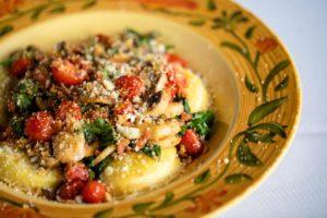 Italian pasta dish at Mario Fazio's restaurant