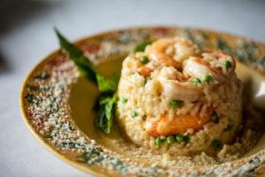shrimp risotto dish at Mario Fazio's restaurant
