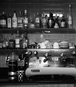 the bar at Mario Fazio's restaurant