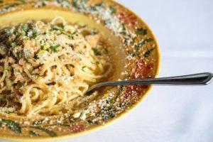 spaghetti dish at Mario Fazio's